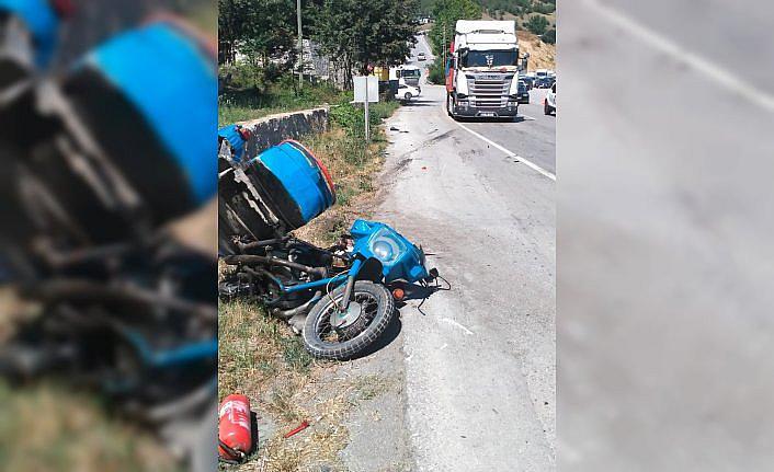 Samsun'da tırın çarptığı motosikletin sürücüsü yaşamını yitirdi