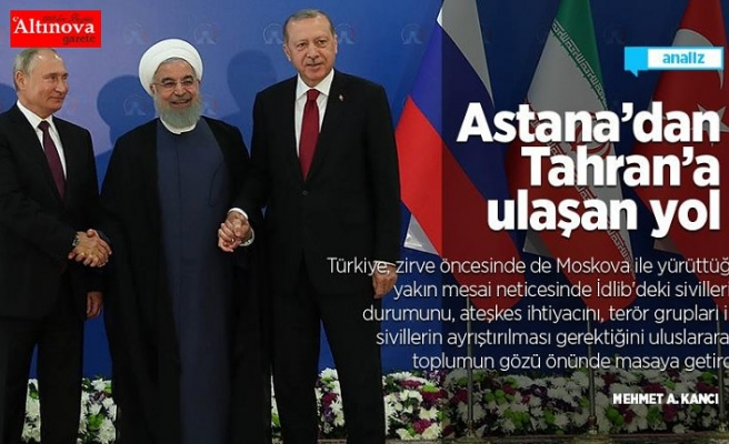 Astana'dan Tahran'a ulaşan yol
