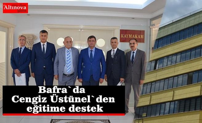 Bafra`da Cengiz Üstünel`den eğitime destek
