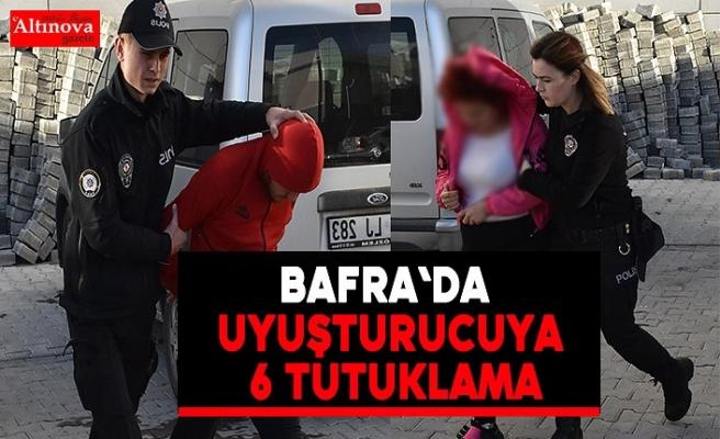 Bafra`da uyuşturucuya 6 tutuklama