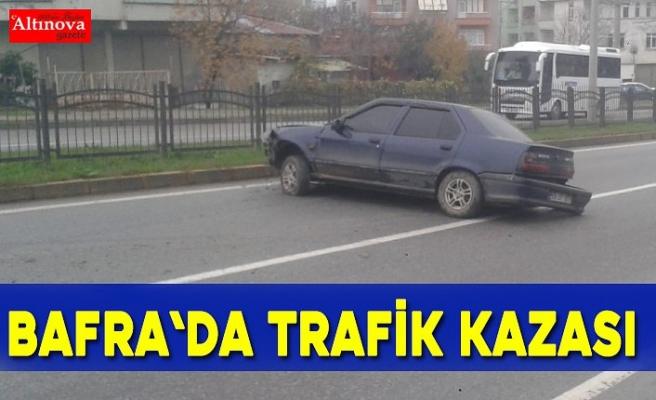 Bafra`da trafik kazası