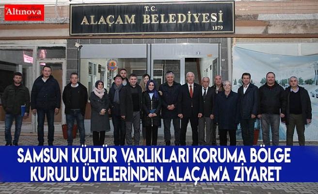 Samsun Kültür Varlıkları Koruma Bölge Kurulu Üyelerinden Alaçam'a Ziyaret