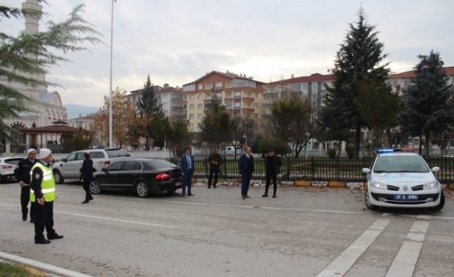 Tosya'da şehir içinde radarla hız denetimi yapılacak