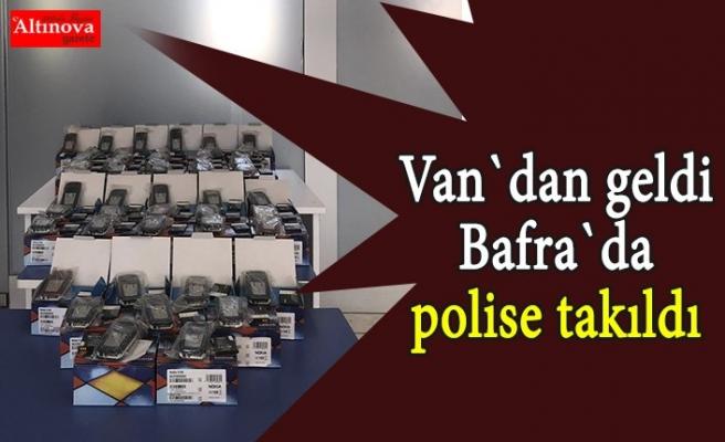 Van`dan geldi Bafra`da polise takıldı