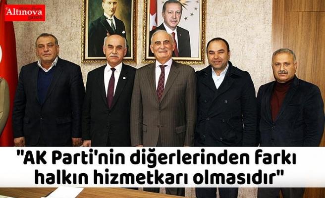"""""""AK Parti'nin diğerlerinden farkı halkın hizmetkarı olmasıdır"""""""