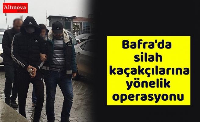 Bafra'da silah kaçakçılarına yönelik operasyonu