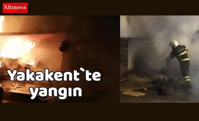 Yakakent`te yangın