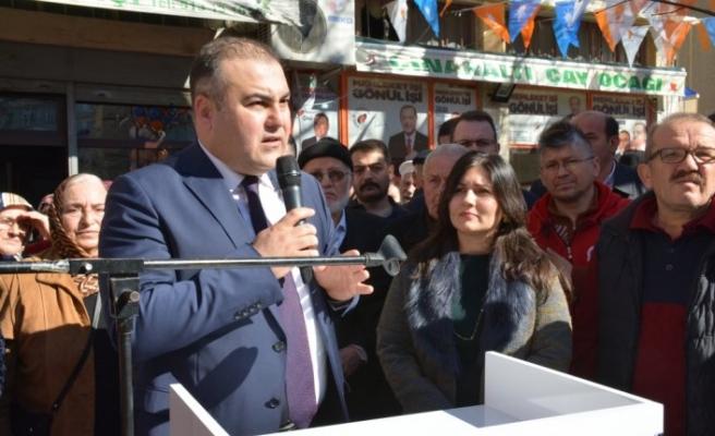 Görele'de AK Parti seçim bürosu açıldı