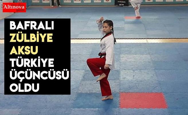Bafralı Zülbiye Aksu Türkiye üçüncüsü oldu