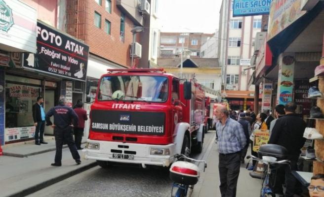 Çarşamba'da iş yeri yangını