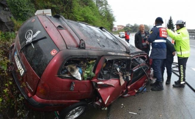 Giresun'da trafik kazası: 1 ölü, 1 yaralı
