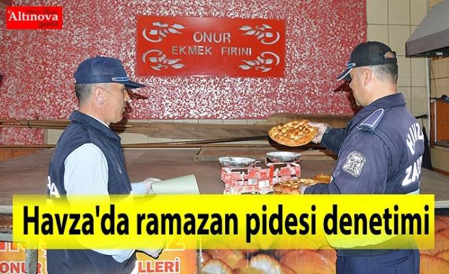 Havza'da ramazan pidesi denetimi