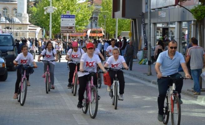 Havza'da 100. yıl anısına bisiklet turu