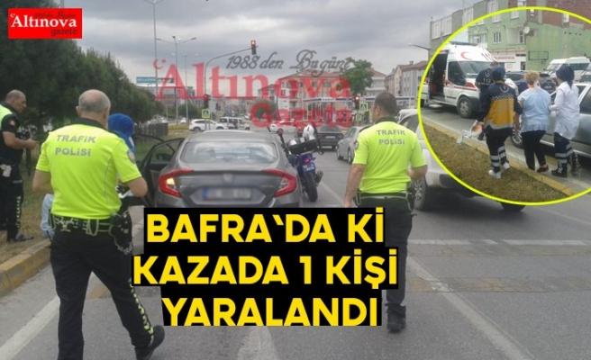 Bafra`da ki kazada bir kişi yaralandı