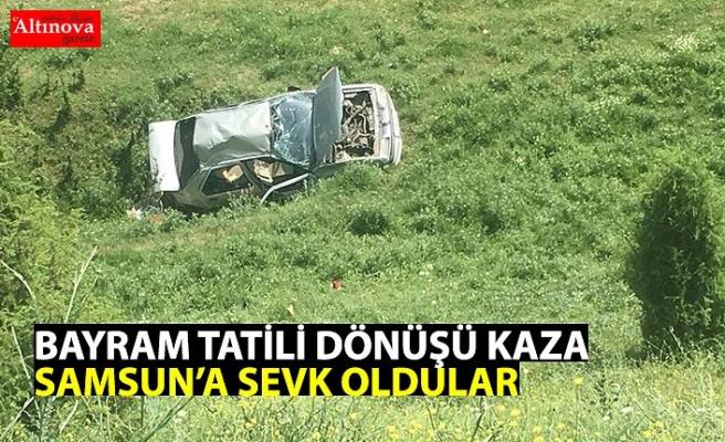 Bayram tatili dönüşü kaza: 7 yaralı