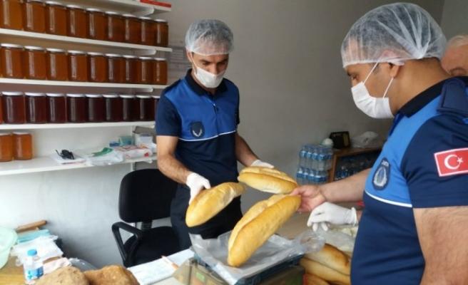 Zabıta ekipleri ekmek gramaj denetimi yaptı