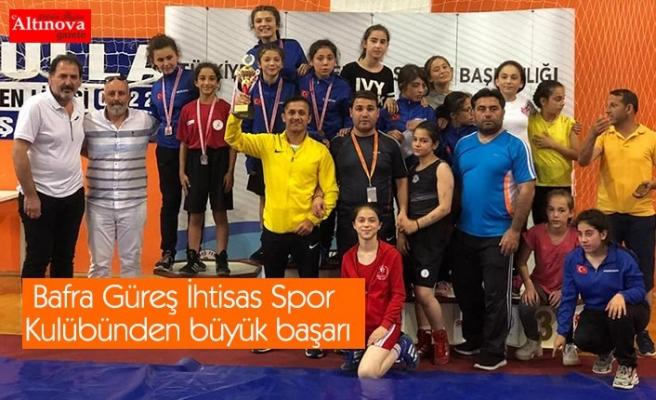 Bafra Güreş İhtisas Spor Kulübünden büyük başarı