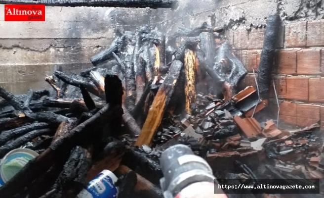 Yakakentte ev yangını