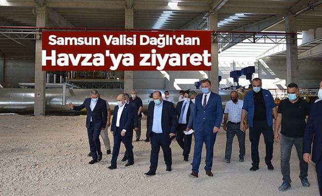 Samsun Valisi Dağlı'dan Havza'ya ziyaret