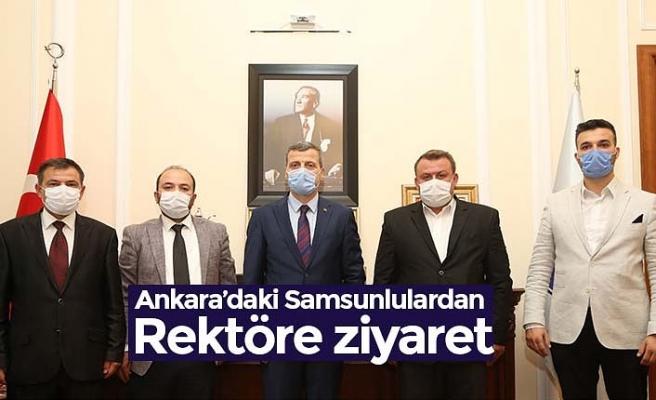 Ankara'daki Samsunlulardan Rektöre ziyaret