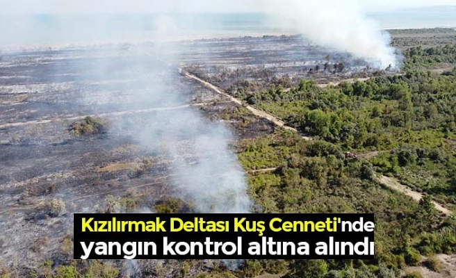 Kızılırmak Deltası Kuş Cenneti'nde yangın kontrol altına alındı
