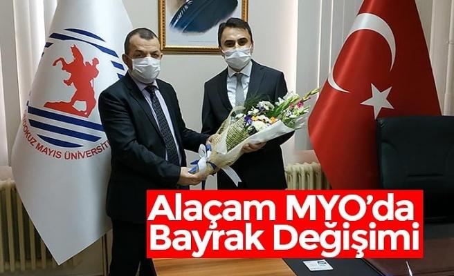 Alaçam MYO'da Bayrak Değişimi