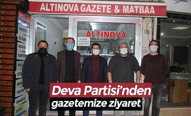 Deva Partisi'nden gazetemize ziyaret