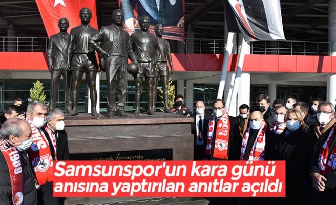 """Samsunspor'un kara günü"""" anısına yaptırılan anıtlar açıldı"""