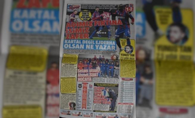 Trabzon yerel basınında Beşiktaş galibiyeti sevinci
