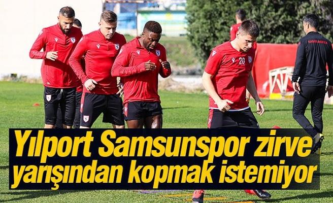 Yılport Samsunspor zirve yarışından kopmak istemiyor