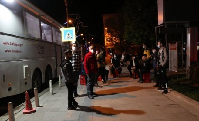 Havza'da iftar sonrası 108 ünite kan bağışı toplandı
