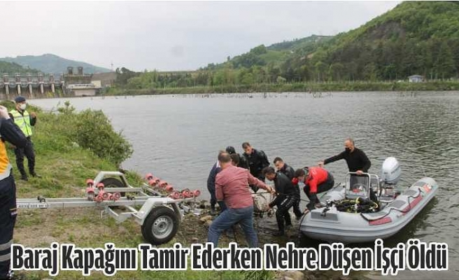 Samsun'da Baraj Kapağını Tamir Ederken Nehre Düşen İşçi Öldü