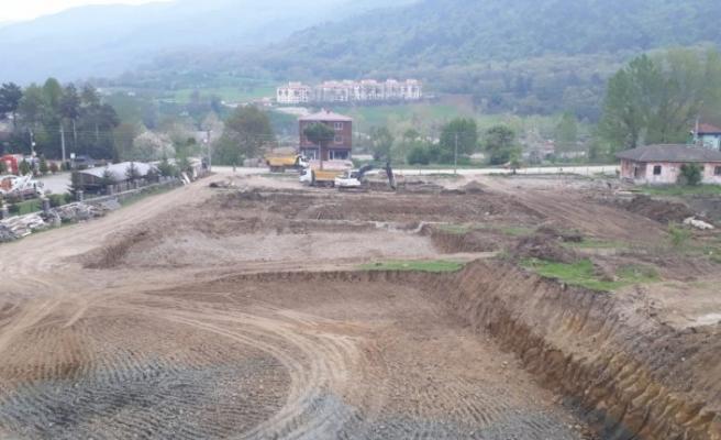 TOKİ'nin Mudurnu'daki 108 konutluk projesinde inşaat çalışmaları başladı