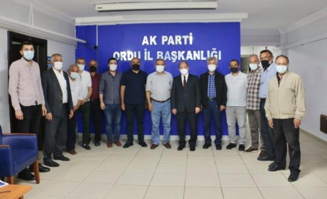 AK Parti Erzurum Milletvekili Akdağ'dan AK Parti Ordu İl Başkanlığına ziyaret