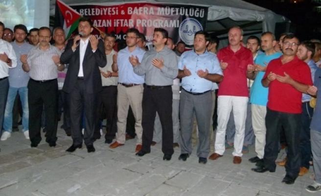 İSRAİL, BAFRA'DA PROTESTO EDİLDİ