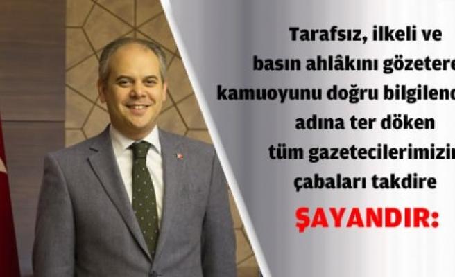 """AKİF ÇAĞATAY KILIÇ'IN """"10 OCAK ÇALIŞAN GAZETECİLER GÜNÜ"""" MESAJI"""