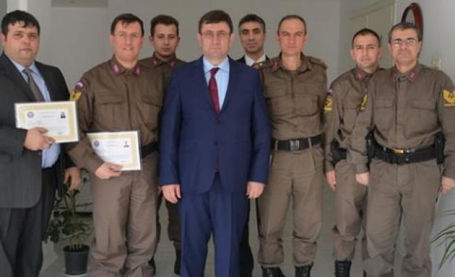 Bafra Kaymakamı Ali Fuat Türkel'den Teşekkür ve Başarı Belgesi
