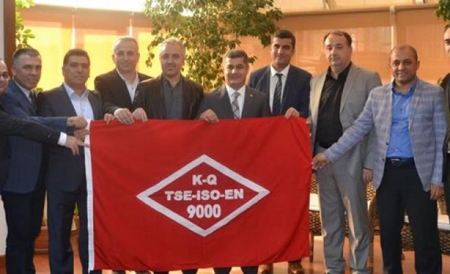 Bafra TSO'ya TSO ISO 9001:2015 Kalite Belgesi