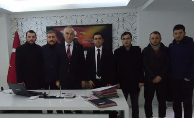 Bafra Ülkü Ocakları Eğitim ve Kültür Vakfından Kaymakam İbrahim Türkoğluna Ziyaret