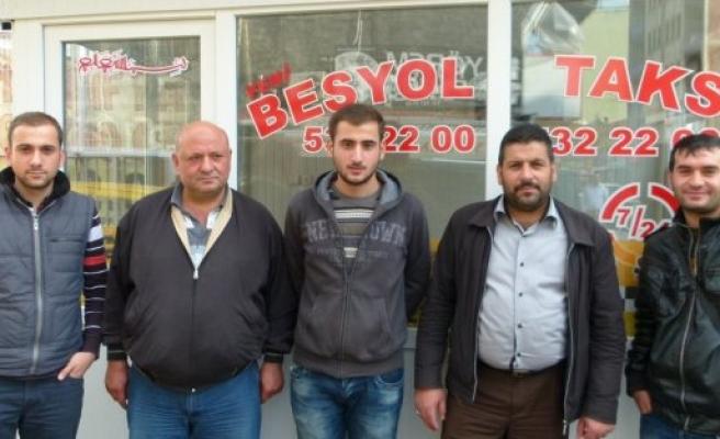 Bafra'da Beşyol Taksi Durağı Kuruldu