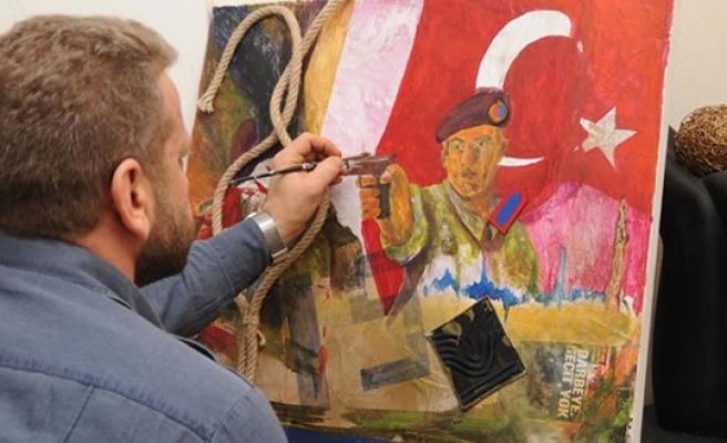 Emekli Başçavuş 15 Temmuz'daki Kahramanlıkları Resmetti