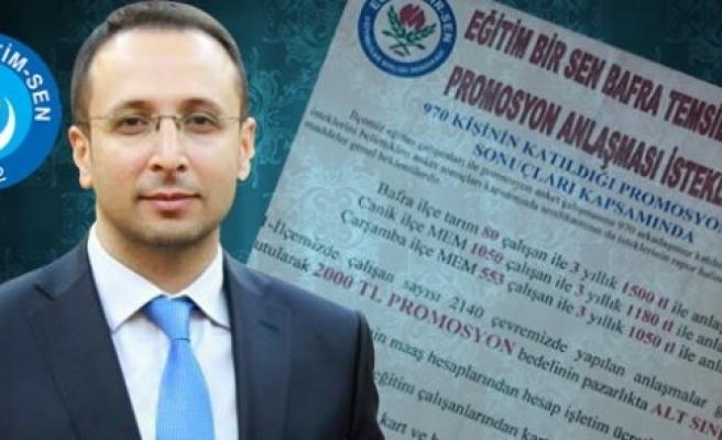 Eroğlu'ndan Eğitim Bir-Sen'e Promosyon Eleştirisi