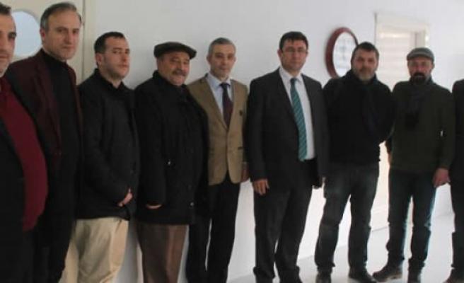 Gazeteciler Bafra Kaymakamı Türkel'i ziyaret etti