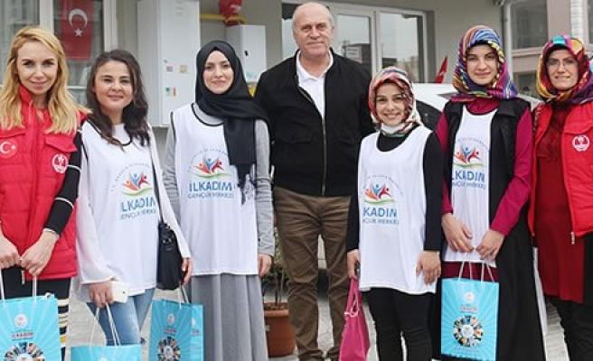 İlkadım Gençlik Merkezi'nden Lösemili çocuklara anlamlı ziyaret