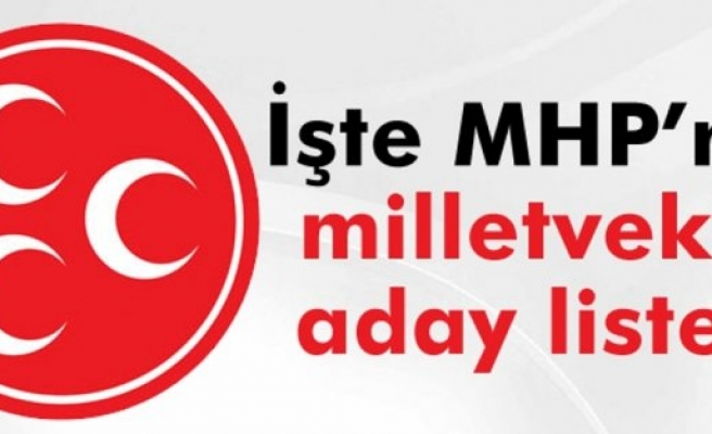 İŞTE MHP'NİN SAMSUN MİLLETVEKİLİ ADAY LİSTESİ