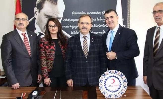 Kızılay Bafra Şubesi'nden Başkan Şahin'e Ziyaret