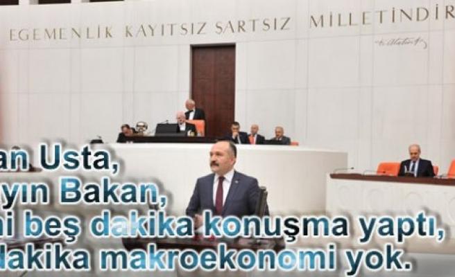 """MHP'li Erhan Usta; """"Türkiye Yatırım Yapmıyor"""""""