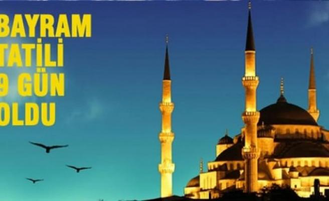 Ramazan Bayramı Tatili 9 Gün Oldu!