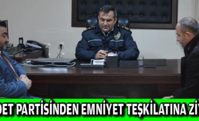Saadet Partisi İlçe Teşkilatı Emniyet Müdürü Mustafa Yiğit`i makamında ziyaret etti.