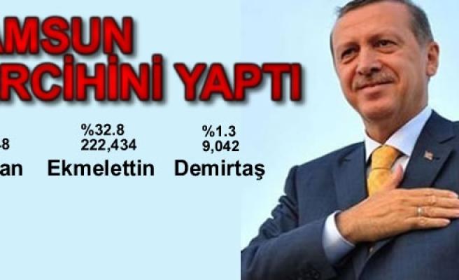 Samsun'un 65.9'u Erdoğan Dedi